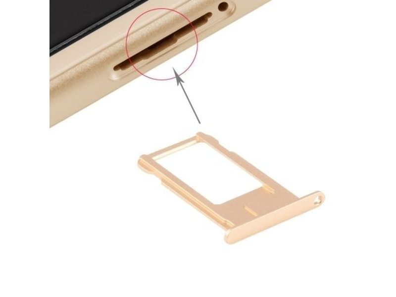 Simkaart houder voor Apple iPhone 6 Goud / Gold reparatie onderdeel