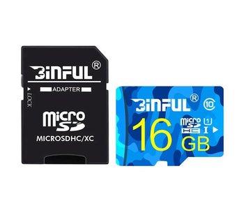 MicroSD kaart 16 GB + SD Class 10 Adapter geheugenkaart memory opslag
