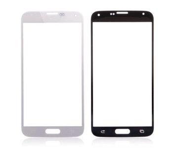 Scherm front glas geschikt voor Samsung Galaxy S5 i9600 Wit/White reparatie onderdeel