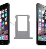 Simkaart houder sim tray voor Apple iPhone 6 Grijs / Grey reparatie onderdeel