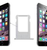 Simkaart houder sim tray voor Apple iPhone 6 Zilver / Silver reparatie onderdeel