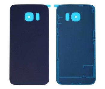 Back cover geschikt voor Samsung Galaxy S6 Edge PLUS (+) Donkerblauw/Blue achterkant glas reparatie onderdeel + bevestiging sticker