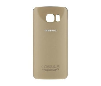Back cover geschikt voor Samsung Galaxy S6 Edge PLUS (+) Goud / Gold achterkant glas reparatie onderdeel + bevestiging sticker