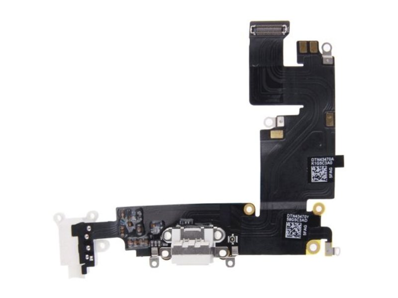 Dock connector voor Apple iPhone 6 PLUS (+) Wit/White lightning oplaadpoort flex reparatie onderdeel