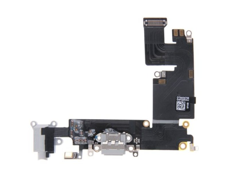 Dock connector voor Apple iPhone 6 PLUS (+) Zwart/Black lightning oplaadpoort flex reparatie onderdeel