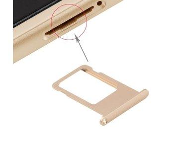 Simkaart houder voor Apple iPhone 6S Goud / Gold simkaarthouder reparatie onderdeel
