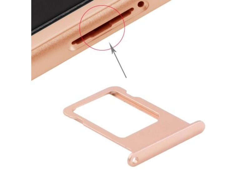 Simkaart houder voor Apple iPhone 6S Rose Goud / Rose Gold simkaarthouder reparatie onderdeel