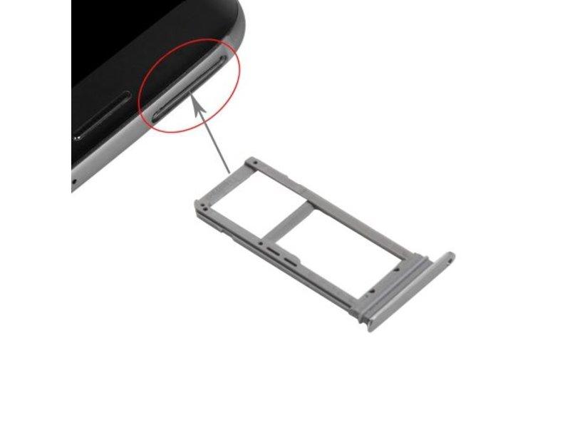 Simkaart houder voor Samsung Galaxy S7 EDGE Grijs / Grey simkaarthouder reparatie onderdeel