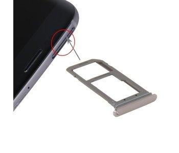 Simkaart houder voor Samsung Galaxy S7 EDGE Rose Goud / Rose Gold simkaarthouder reparatie onderdeel
