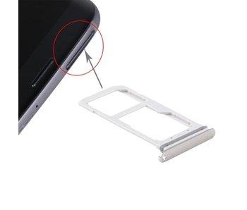 Simkaart houder voor Samsung Galaxy S7 Goud / Gold simkaarthouder reparatie onderdeel