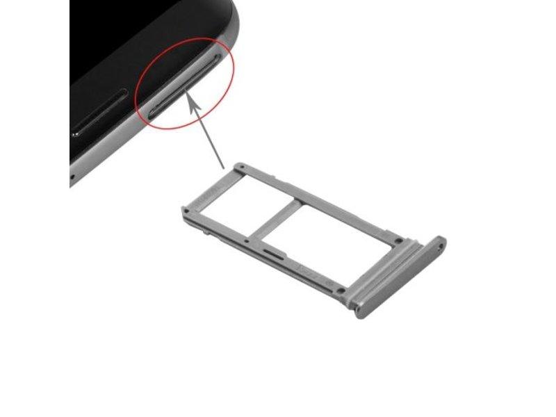 Simkaart houder voor Samsung Galaxy S7 Grijs / Grey simkaarthouder reparatie onderdeel