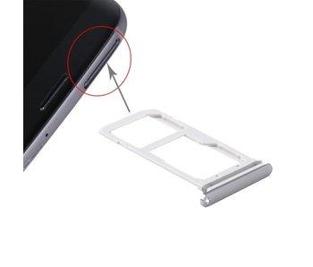 Simkaart houder voor Samsung Galaxy S7 Zwart / Black simkaarthouder reparatie onderdeel