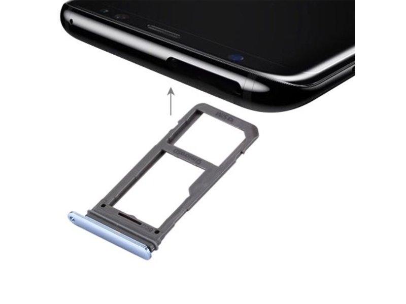 Simkaart houder voor Samsung Galaxy S8 Blauw / Blue simkaarthouder reparatie onderdeel
