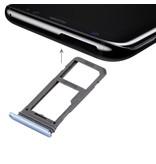 Dual simkaart houder voor Samsung Galaxy S8 PLUS (+) Blauw / Blue simkaarthouder reparatie onderdeel