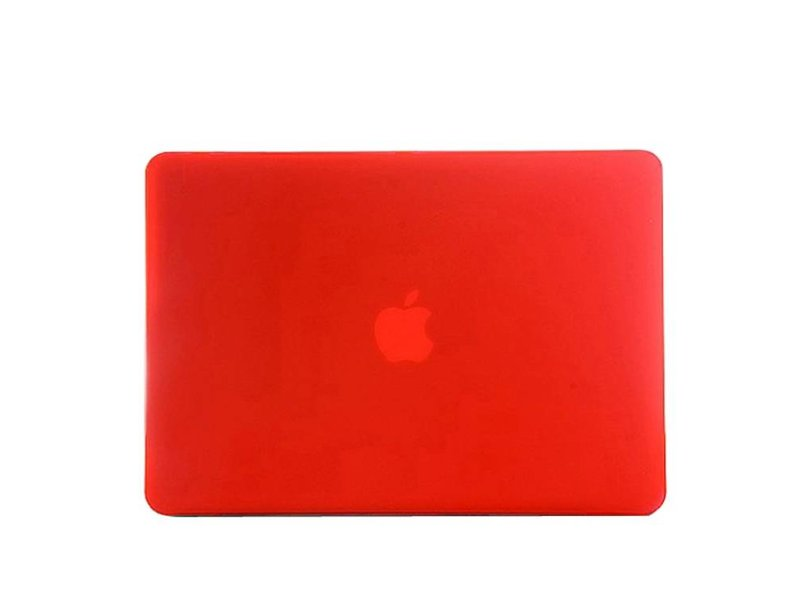 Macbook Air 11 inch Premium hard case cover laptop hoes hardshell Rood/Red