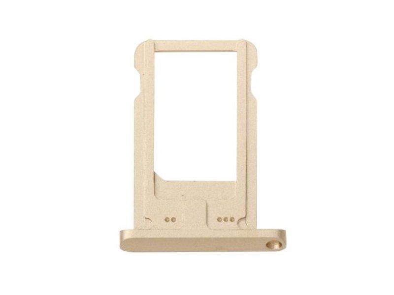 Simkaart houder voor Apple iPad Air 2 / iPad 6 Goud / Gold reparatie onderdeel
