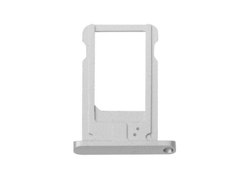 Simkaart houder voor Apple iPad Air 2 / iPad 6 - Zilver / Silver reparatie onderdeel