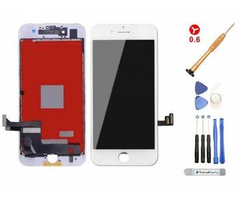 Compleet LCD scherm voor iPhone 8 WIT - AAA+ kwaliteit + Tools