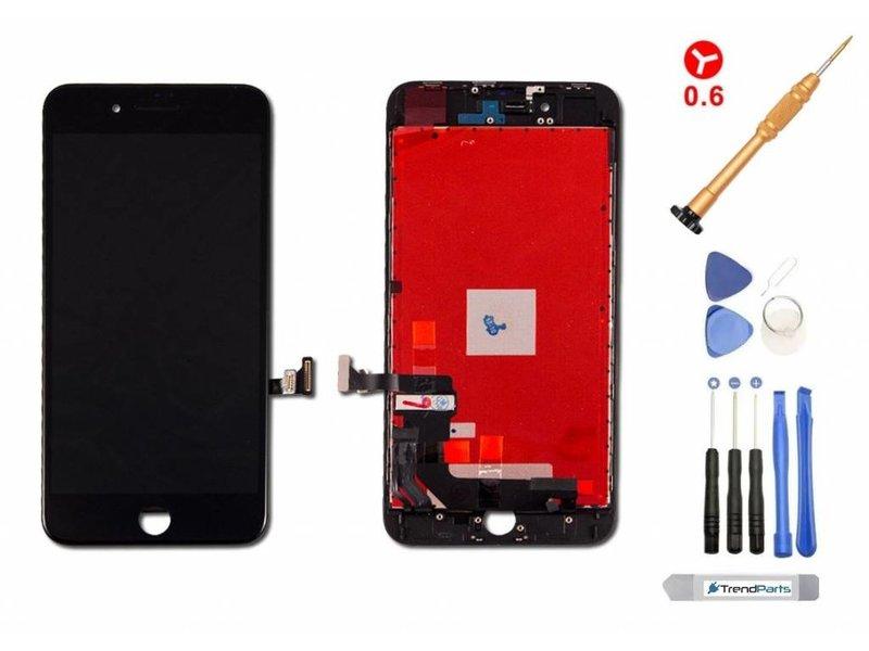 Compleet LCD scherm voor iPhone 8 PLUS ZWART - AAA+ kwaliteit + gereedschap + tempered glass screenprotector