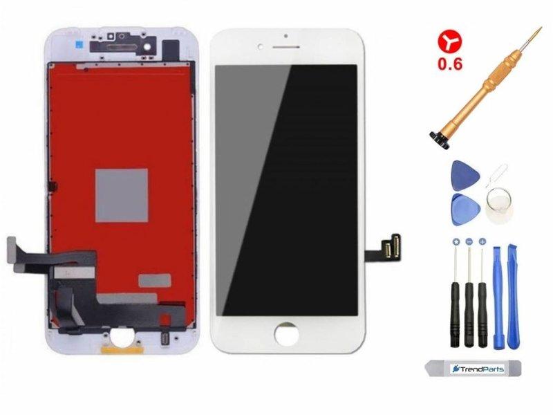 LCD scherm voor iPhone 8 WIT - AAA+ kwaliteit + gereedschap + tempered glass screenprotector