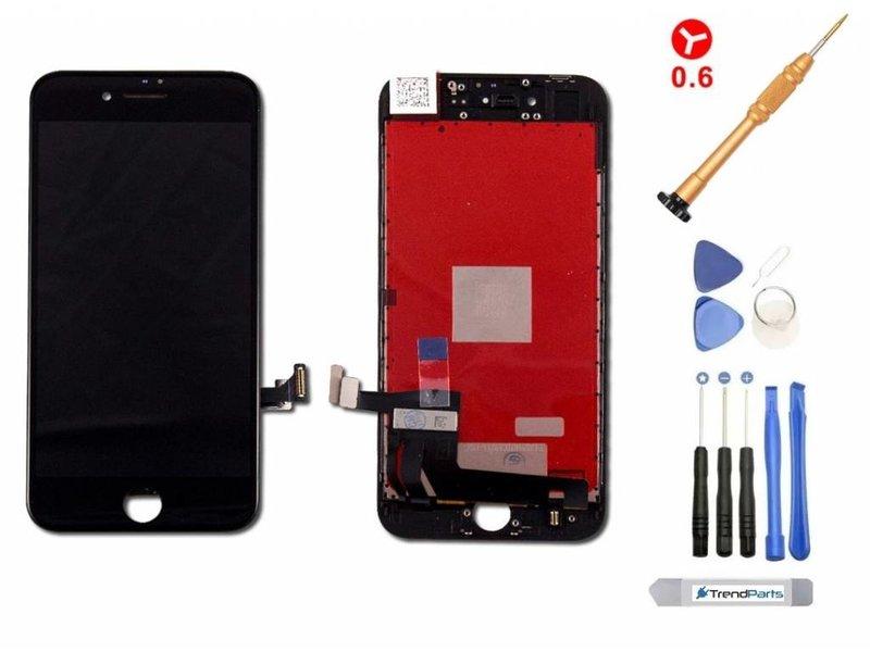 LCD scherm voor iPhone 8 ZWART - AAA+ kwaliteit + gereedschap + tempered glass screenprotector