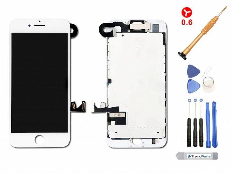 Compleet voorgemonteerd scherm voor iPhone 7 WIT AAA+ kwaliteit incl. Toolkit + Screenprotector