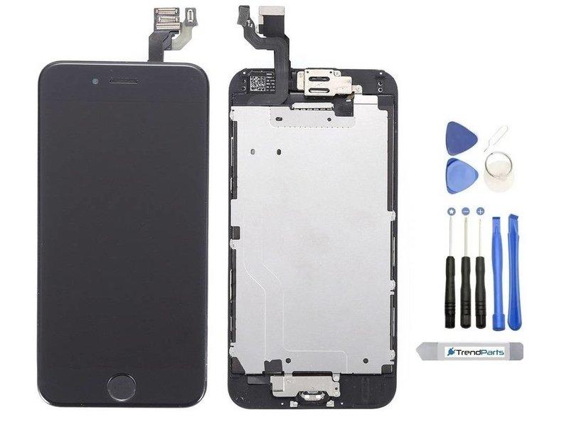 Compleet voorgemonteerd scherm voor iPhone 6S PLUS ZWART AAA+ kwaliteit incl. Tools + Screenprotector