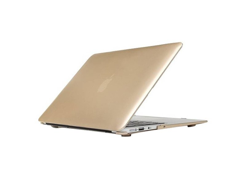 Macbook Air 13 inch premium bescherming hard case cover laptop hoes hardshell Gold/Goud