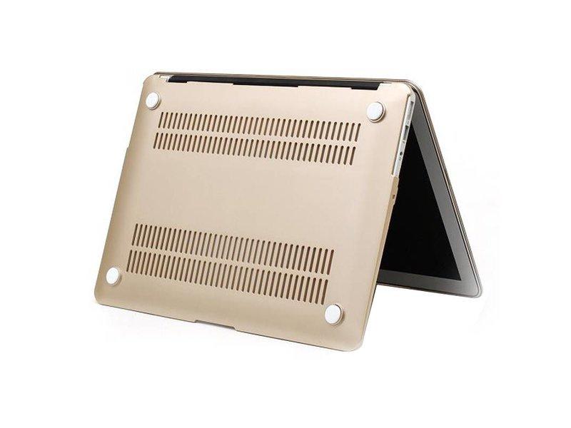 Macbook Air 13 inch premium bescherming hard case cover laptop hoes hardshell Gold/Goud