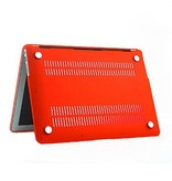 Macbook Air 13 inch premium bescherming hard case cover laptop hoes hardshell Rood/Red