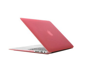 Macbook Air 13 inch premium hard case cover laptop hoes hardshell Roze/Pink