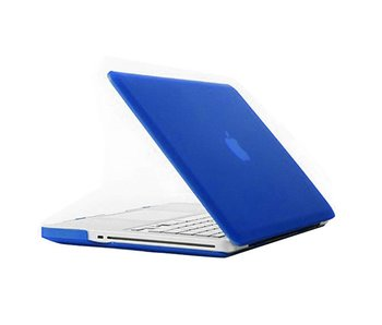 Macbook Pro 13 inch premium hard case cover laptop hoes hardshell Blauw/Blue