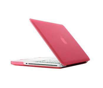 Macbook Pro 13 inch premium hard case cover laptop hoes hardshell Roze/Pink