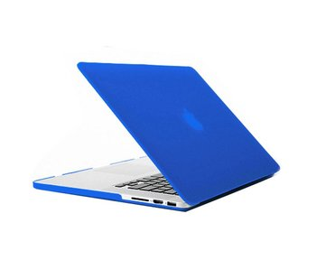 Macbook Pro Retina 15 inch premium hard case cover laptop hoes hardshell Blauw/Blue