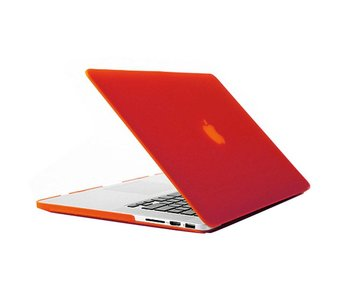 Macbook Pro Retina 15 inch premium hard case cover laptop hoes hardshell Rood/Red