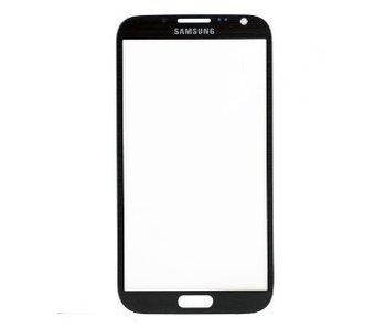 Glas/scherm/display geschikt voor Samsung Galaxy Note 2 N7100 zwart reparatie onderdeel