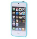 Bumper hoesje voor iPhone 5/5S/SE Baby Blauw/Transparant premium case cover