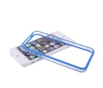 Bumper hoesje voor iPhone 5/5S/SE Blauw/Transparant premium case cover