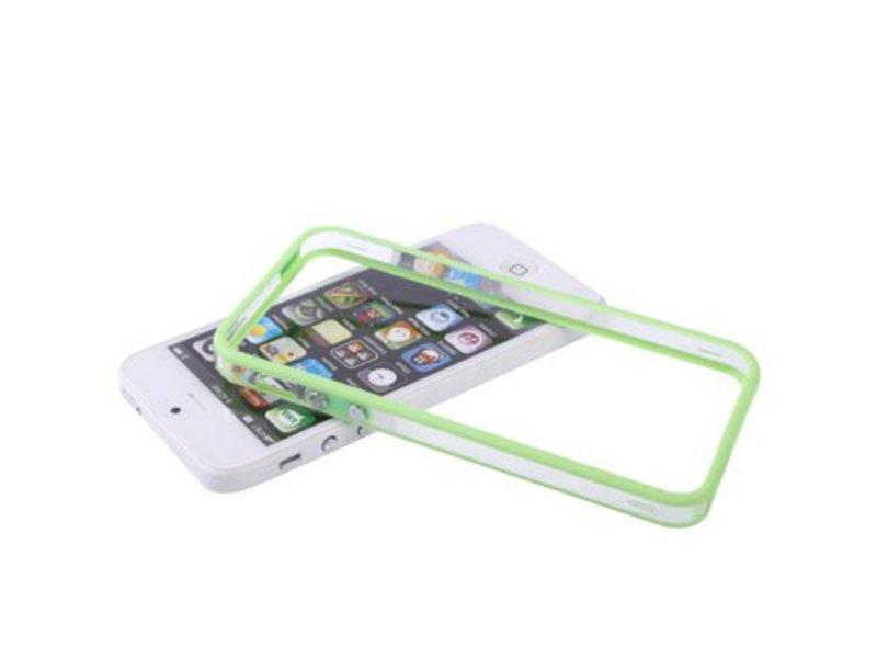 Bumper hoesje voor iPhone 5/5S/SE Groen/Transparant premium case cover
