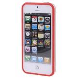 Bumper hoesje voor iPhone 5/5S/SE Rood/Transparant premium case cover