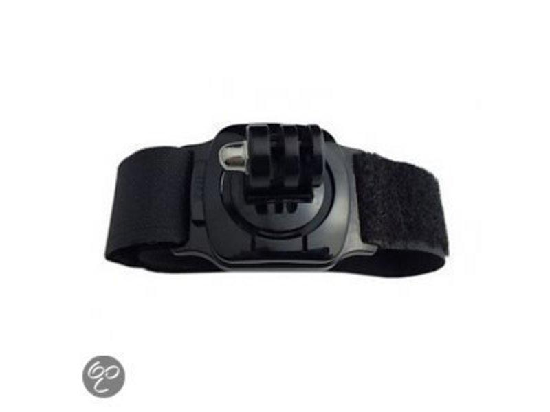 360° Rotation wrist / polsband arm strap mount voor o.a. GoPro Hero 3/3+/4/5/6 en SJCAM