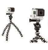 Flexibele tripod mount bevestiging voor o.a. GoPro Hero 3/3+/4/5/6, SJCAM en andere actiecamera's