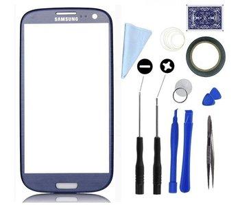 Scherm glas geschikt voor Samsung Galaxy S3 I9300 Blauw met professionele complete toolkit en handleiding