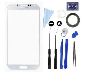 Scherm glas geschikt voor Samsung Galaxy S4 I9500 Wit met professionele complete toolkit en handleiding