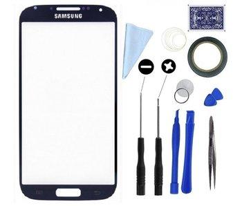 Scherm glas geschikt voor Samsung Galaxy S4 I9500 Zwart met professionele complete toolkit en handleiding
