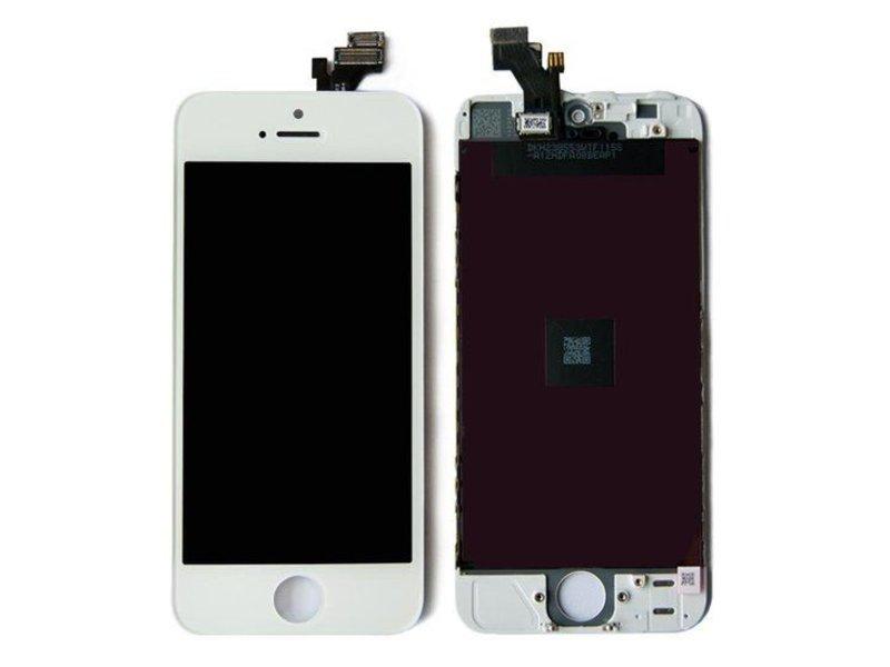 Compleet LCD/display/scherm voor Apple iPhone 5S Wit voor reparatie