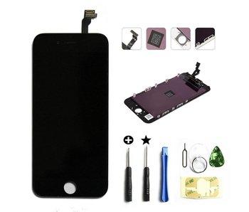 Compleet originele kwaliteit LCD scherm voor Apple iPhone 6 Zwart + toolkit + tempered glass screenprotector