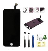 Compleet LCD/display/scherm voor Apple iPhone 6 PLUS zwart + toolkit + tempered glass screenprotector