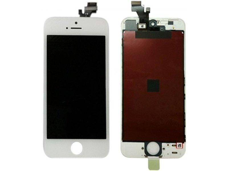 Compleet LCD/display/scherm voor Apple iPhone 5 wit voor reparatie