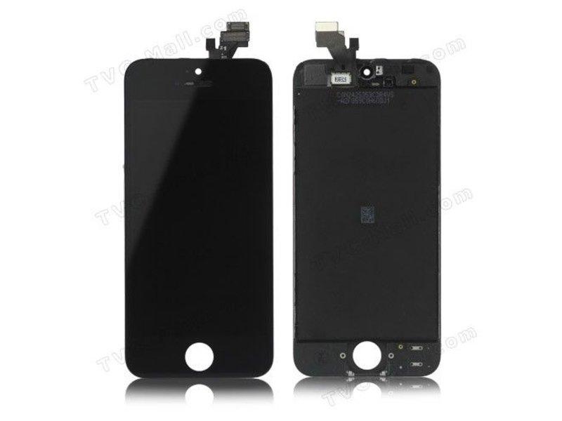 Compleet LCD/display/scherm voor Apple iPhone 5C zwart voor reparatie